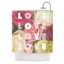 Love Love Love Polyester Shower Curtain