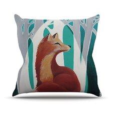 Fox Forest Throw Pillow