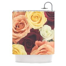 Vintage Roses Polyester Shower Curtain
