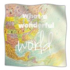 What A Wonderful World Microfiber Fleece Throw Blanket