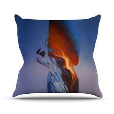 Volcano Girl Throw Pillow