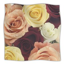 Vintage Roses Microfiber Fleece Throw Blanket