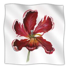 Open Tulip Microfiber Fleece Throw Blanket
