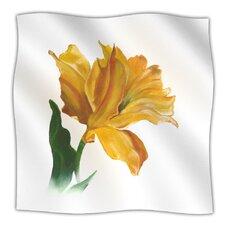 Yellow Tulip Microfiber Fleece Throw Blanket
