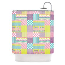 Patchwork Polyester Shower Curtain