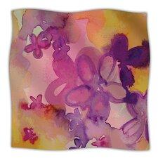 Dissolved Flowers Microfiber Fleece Throw Blanket