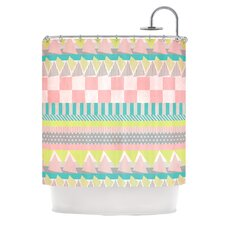 Luna Polyester Shower Curtain