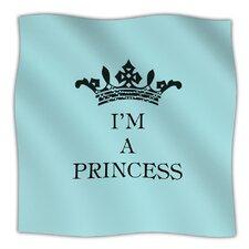 Im A Princess Microfiber Fleece Throw Blanket