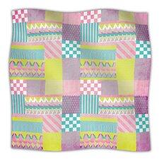 Patchwork Microfiber Fleece Throw Blanket