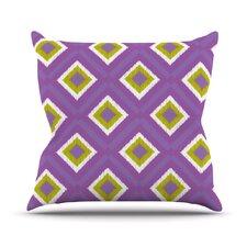 Purple Splash Tile Throw Pillow