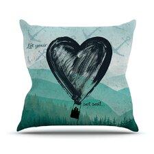 Heart Set Sail Throw Pillow