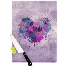 Painted Heart Cutting Board