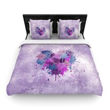 Painted Heart Duvet Cover