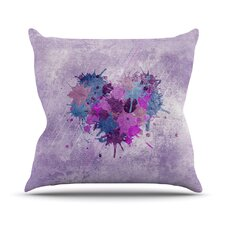 Painted Heart Throw Pillow