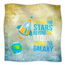 Explore The Stars Microfiber Fleece Throw Blanket