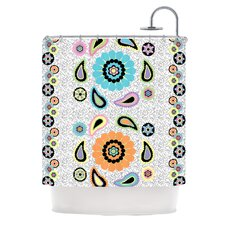 Moda Paisley Polyester Shower Curtain