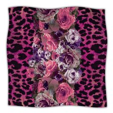 Rose Strip Microfiber Fleece Throw Blanket
