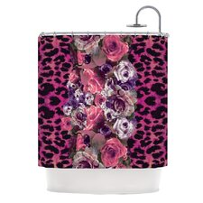 Rose Strip Polyester Shower Curtain