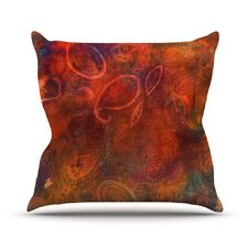 Tie Dye Paisley Throw Pillow