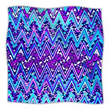 Electric Chevron Fleece Throw Blanket