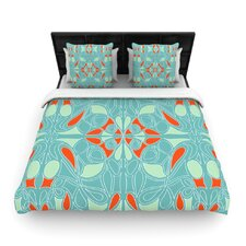 Seafoam and Orange Duvet Cover Collection