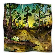 Alligator Swamp Microfiber Fleece Throw Blanket