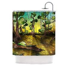 Alligator Swamp Polyester Shower Curtain