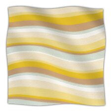 Desert Waves Fleece Throw Blanket