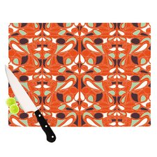 Orange Swirl Kiss Cutting Board