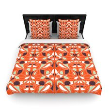Orange Swirl Kiss Duvet Cover Collection
