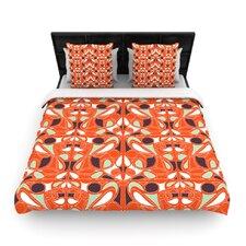 Orange Swirl Kiss Duvet Cover
