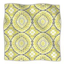 Yellow Tessellation Microfiber Fleece Throw Blanket