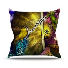 Fairy Tale off to Neverland Outdoor Throw Pillow