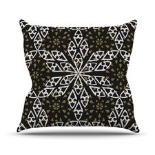 Ethnical Snowflakes Throw Pillow