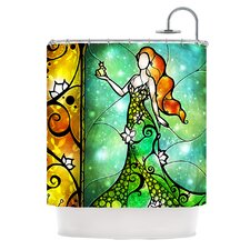 Fairy Tale Frog Prince Polyester Shower Curtain