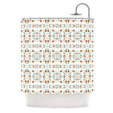 Italian Kitchen Orange Polyester Shower Curtain