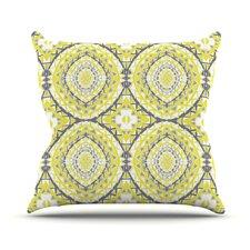 Yellow Tessellation Throw Pillow
