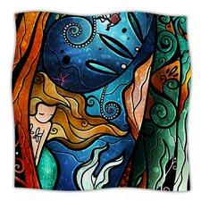 Fathoms Below Mermaid Microfiber Fleece Throw Blanket