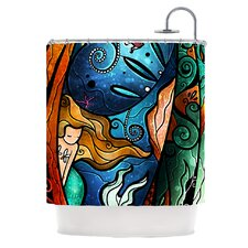 Fathoms Below Mermaid Polyester Shower Curtain