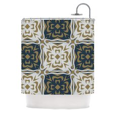 Contemporary Granny Polyester Shower Curtain