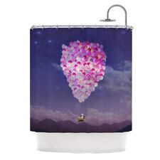Never Stop Exploring IV Polyester Shower Curtain