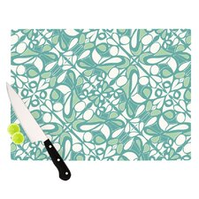 Swirling Tiles Teal Cutting Board
