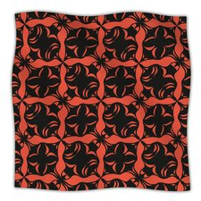 Oval Orange Love Microfiber Fleece Throw Blanket