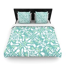 Swirling Tiles Teal Duvet Cover Collection