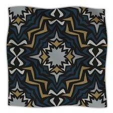 Winter Fractals Microfiber Fleece Throw Blanket