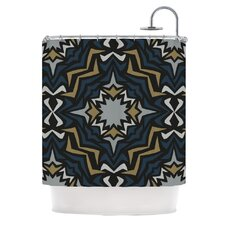 Winter Fractals Polyester Shower Curtain