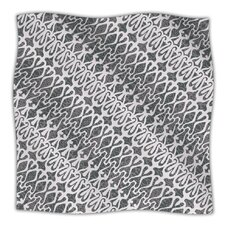 Silver Lace Microfiber Fleece Throw Blanket