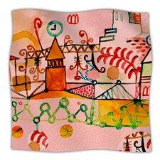 Happy Town Microfiber Fleece Throw Blanket