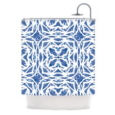 Blue Explosion Polyester Shower Curtain