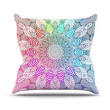 Rainbow Dots Throw Pillow
